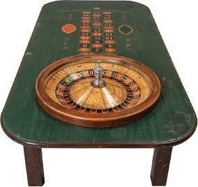 Antique roulette table