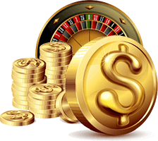 Roulette gold coins