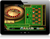 Roulette on tablet